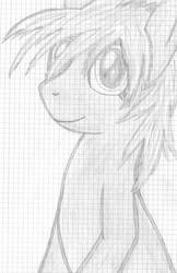 HDP - Hand-Drawn-Pony No. 1 by Ashidaru