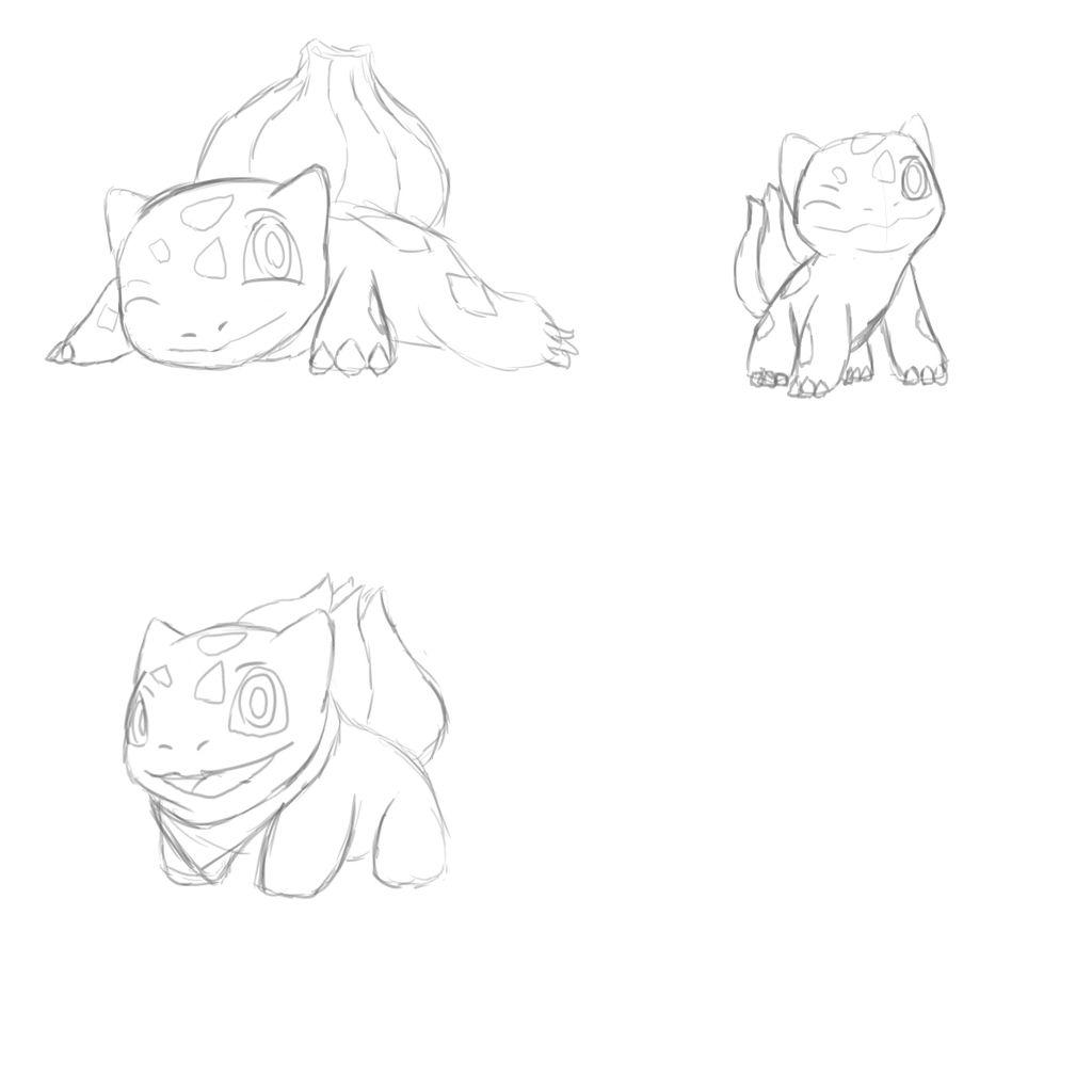 Bulbasaur Sketch by Ashidaru