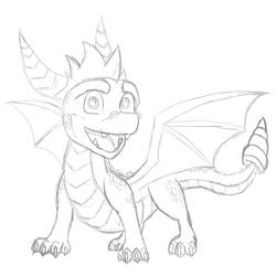 Spyro - Sketch by Ashidaru