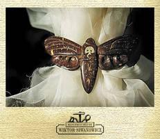 Death's head moth hair-clip by WSi