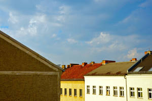 roofs, clouds and windows by Batsceba
