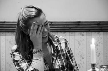 she laughs by Batsceba