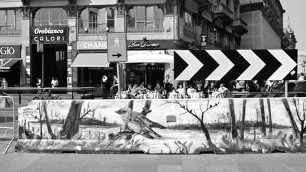 Anti truck barrier  Milano -  Piazza del Duomo  -1 by Batsceba