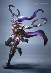 Dark Elf Blademaster by r-chie