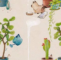 Kitty spilled milk seamless wallpaper! by SophiaFeesh
