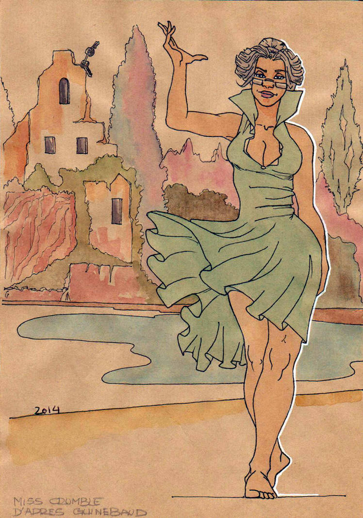 FAN-ART - Miss Crumble hommage a Sylvain Guinebaud by Vincent-P-Factory