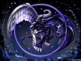 Light and Darkness Dragon by rocioam7