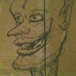 Cardboard Gremlin by creecreehoneybees