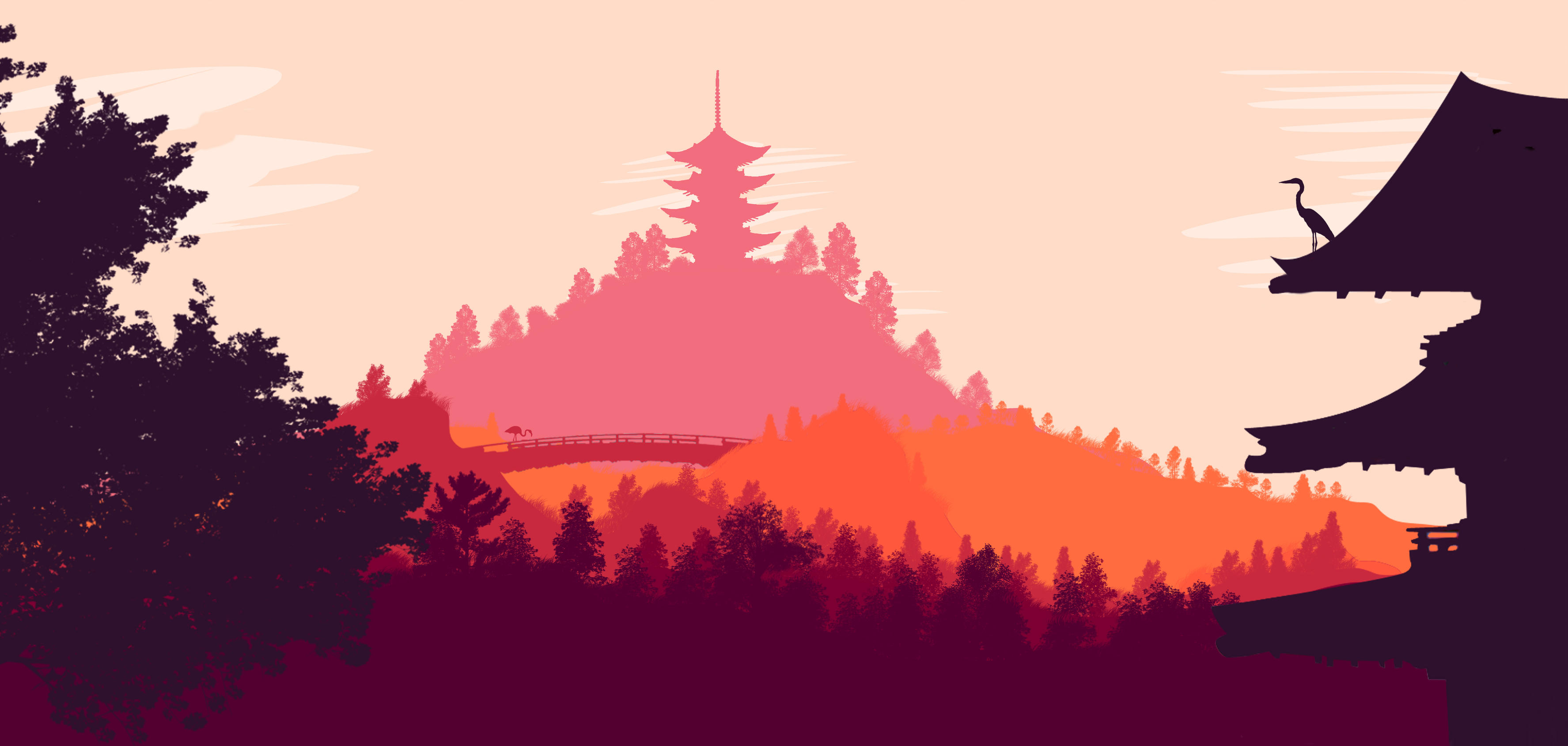 Japanese Landscape by Finnfanfoodle