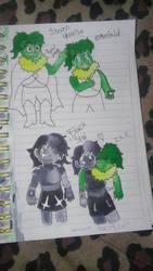 Emerald and Black Star by clydespreekiller