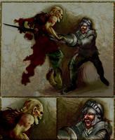 Ghosts N' Goblins Zombie Fight by DizzyClockwork