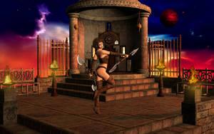 Casandra At The Temple Of Ni by SavageDragon1313