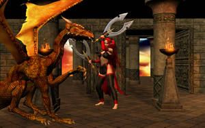 Kira and the Golden Dragon by SavageDragon1313