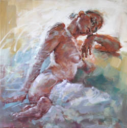 Nude in the painting by renatadomagalska