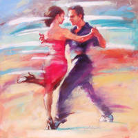 TANGO 4 in the painting by renatadomagalska