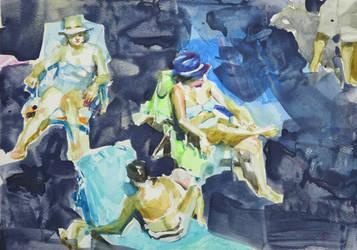 Sea sketches 1 by renatadomagalska