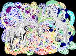 Giraffes - vector version by renatadomagalska