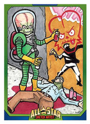 MARS ATTACKS ALL STAR SKETCH ARTIST CARD by Tyrant-1