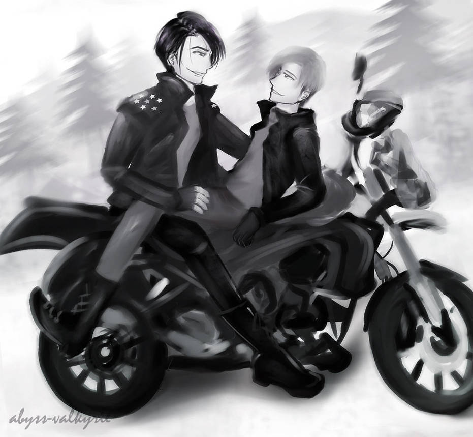 Inktober-Motorcycle-Wolfstar by Abyss-Valkyrie