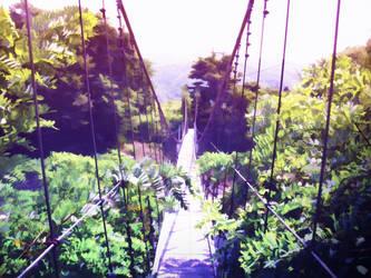 Suspension bridge by A4size-ska