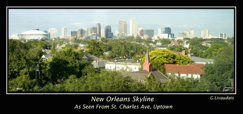 New Orleans Skyline by Kicks02