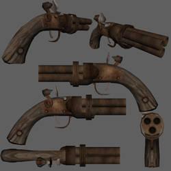Fable 2 - Multibarrel Pistol by Caetis