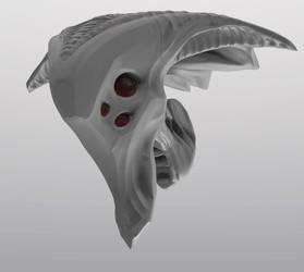 Alien Head by Caetis