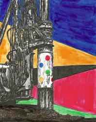 Damien Hirst's Piledriver Waltz by hallovey