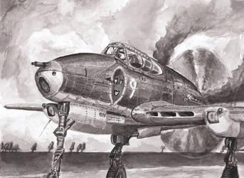 Saab J-21A-1 by hallovey