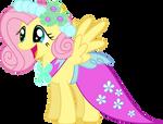 FlutterShy Wedding Dress by KayMan13