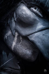 The Raven -closeup by Demonrat