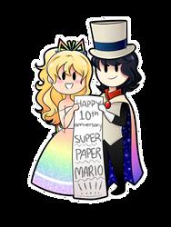 HAPPY 10TH ANNIVERSARY SUPER PAPER MARIO!!!!! by PixelatedFairy