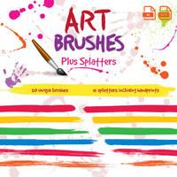 Paintbrush Art Brushes for Illustrator by JaneVision