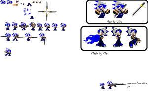 Power the X Hedgehog sprite sheet by Power1x