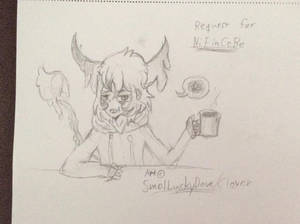 Just let me drink my coffee in peace! (SKETCH) by Maechi-Toff