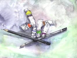 Painting by Zwerg-im-Bikini