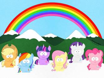 My Little Pony in South Park by Zwerg-im-Bikini