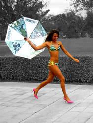 Umbrella Run by glamourbabee
