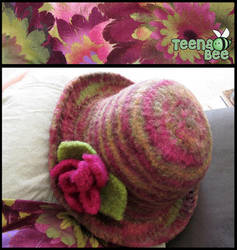 Felted Hat by Me by Teena-Bee