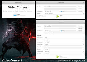 elementary OS VideoConvert mockup, version 1 by 13iangel