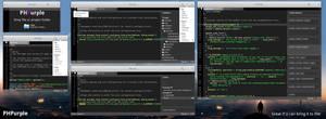 elementary OS PHPurple mockup, version 1 by 13iangel
