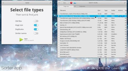 elementary OS Sorter app mockup version 4 by 13iangel