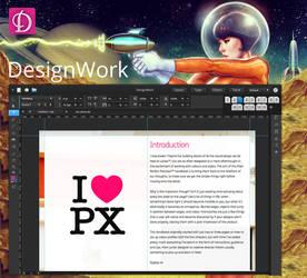 elementary OS DesignWork app mockup version 2 by 13iangel