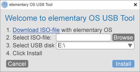 elementary OS USB Tool by 13iangel