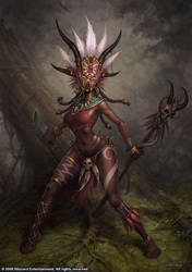 Female Witch Doctor by GlennRaneArt