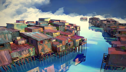 Stilt Houses by ngocthanh1103
