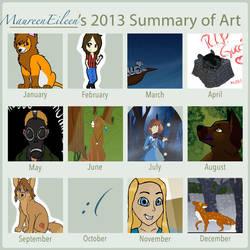 2013 Art Summary Meme by MaureenEileen