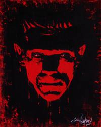 boris karloff, frankensteins monster, red by DADDYZOMBIE