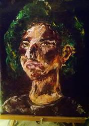 Self portrait impasto technique by I-rE-nA-216
