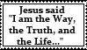 Jesus Is the WAY stamp by neeneer